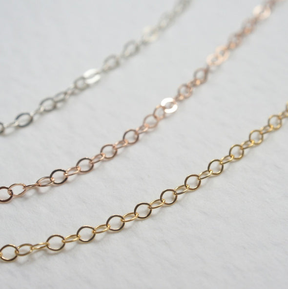 Delicate Short Thin Chain Necklace