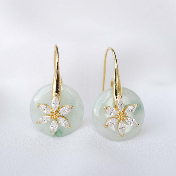 Daisy Hook Jade Earrings AD6