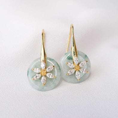 Daisy Hook Jade Earrings AD9