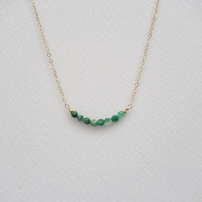 African Jade Gem Bar Necklace