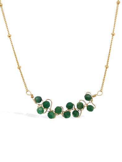 African Jade Vine Bar Necklace