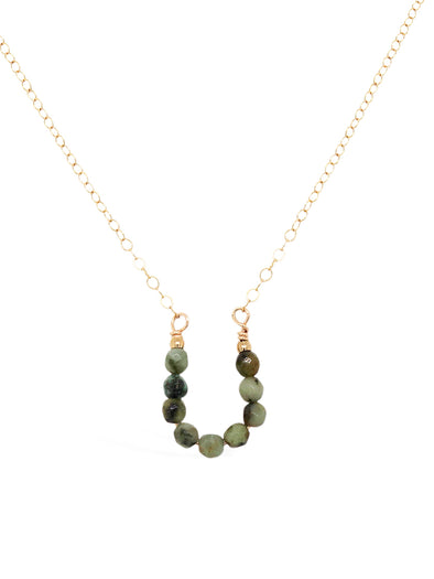 Lucky Horseshoe Necklace - African Turquoise