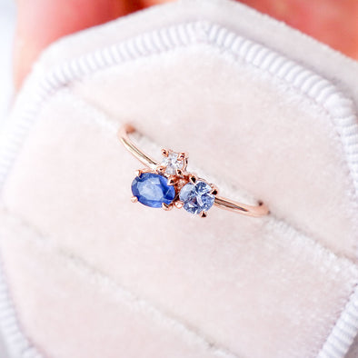 Blue Skies Ring in 14K Rose Gold