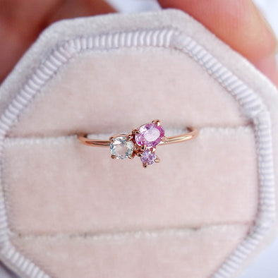 Blush Skies Ring in 14K Rose Gold - BSR3R28