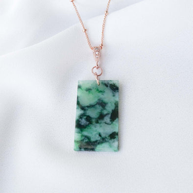 Unique Jade Necklace - D037