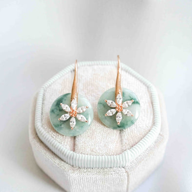 Daisy Hook Jade Earrings DH33