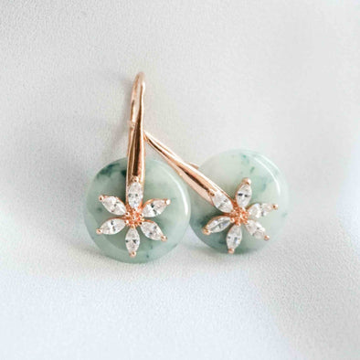Daisy Hook Jade Earrings DH34