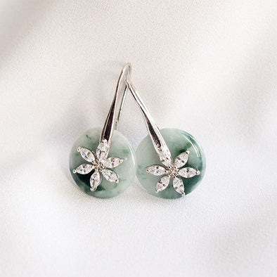 Daisy Hook Jade Earrings DH36
