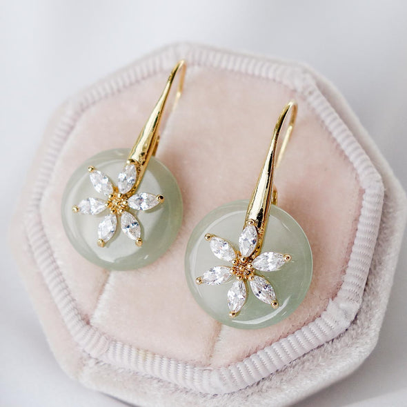 Daisy Hook Jade Earrings DJ12