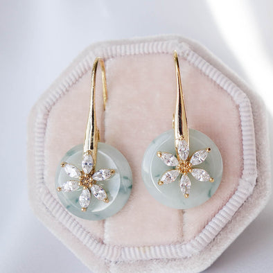 Daisy Hook Jade Earrings DJ23