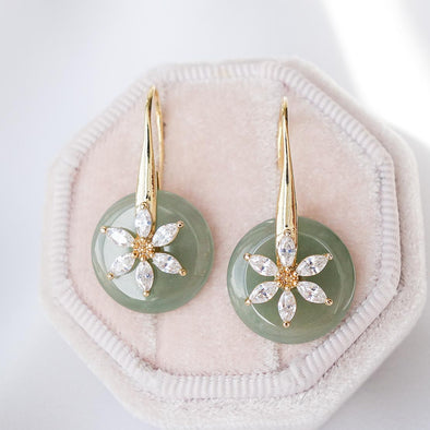 Daisy Hook Jade Earrings DJ25