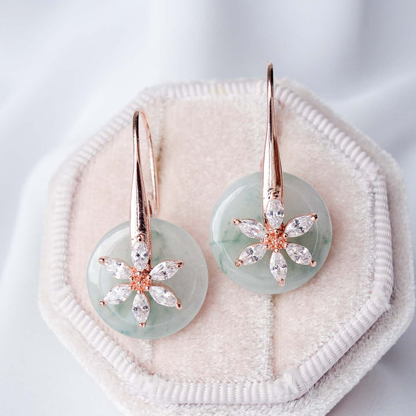 Daisy Hook Jade Earrings DJ3