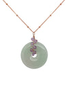 Jade with Pink Opal Vine Necklace