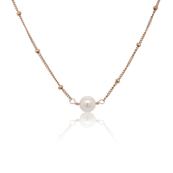 Luxurious Floating Akoya Pearl Necklace