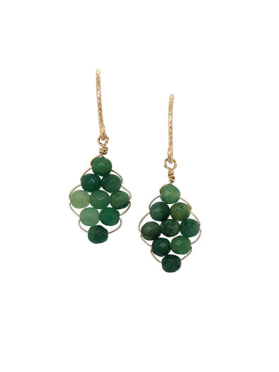 Hand-woven African Jade Earrings