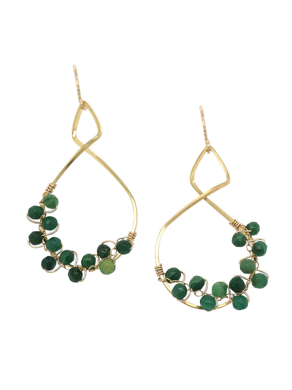 Twist Frame with African Jade Vine Earrings