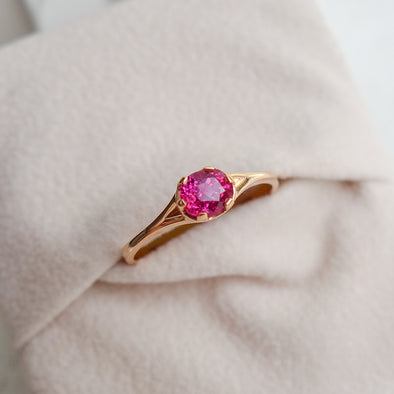 Ruby You Are Enough Ring - Interval Bezel