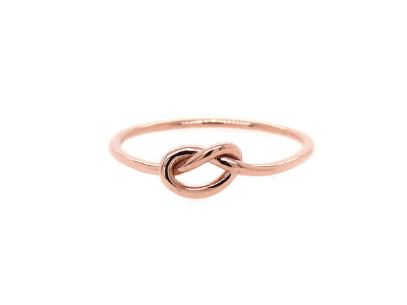 Infinity Knot Ring - 14K Rose Gold