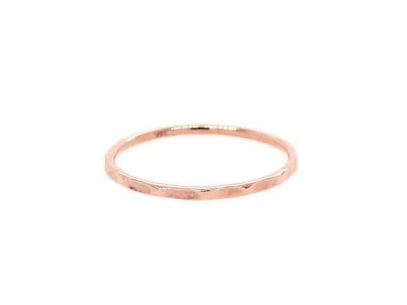 Hammered Ring - 14K Rose Gold