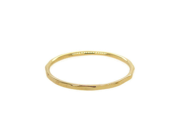 Hammered Ring - 14K Yellow Gold