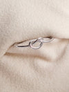 Infinity Knot Ring - 14K White Gold