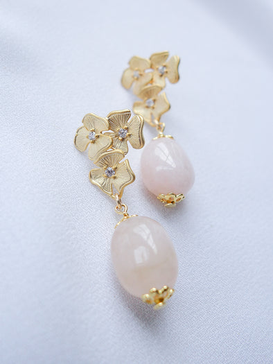 Bridesmaid Earrings Pink Morganite #4