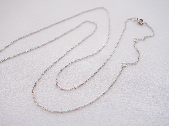 Fine Rope Chain in 14K White Gold CHW9