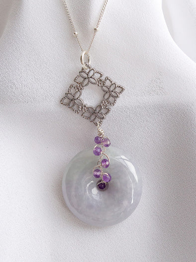 Lavender Jade Necklace #16