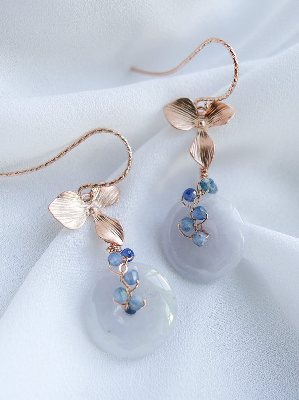 Lavender Jade Earrings #3