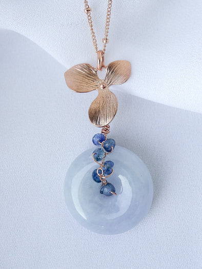 Lavender Jade Necklace #4