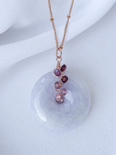 Lavender Jade Necklace #2
