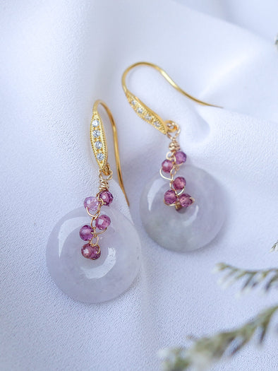 Lavender Jade Earrings #6