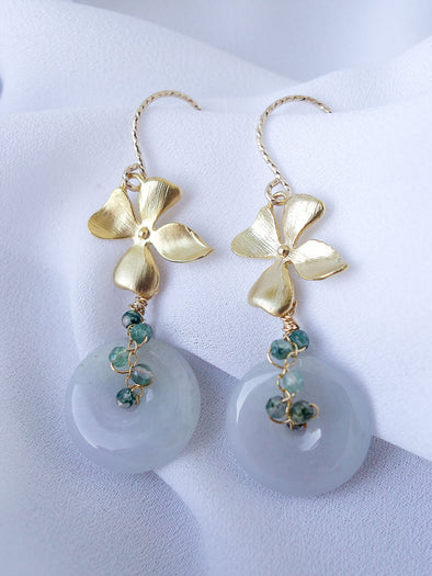 Chinoiserie Jade Earrings #1