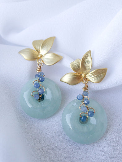 Chinoiserie Jade Earrings #2