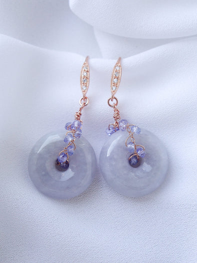 Lavender Jade Earrings #1