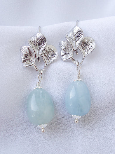 Bridesmaid Earrings Blue Morganite #2