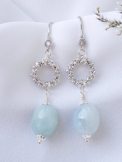 Bridesmaid Earrings Blue Morganite #3