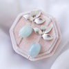 Bridesmaid Earrings Blue Morganite #4