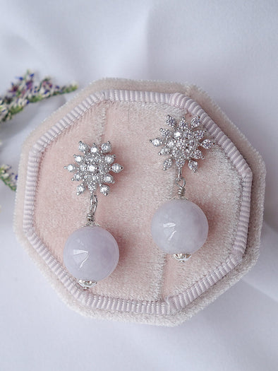 Lavender Jade Earrings #16