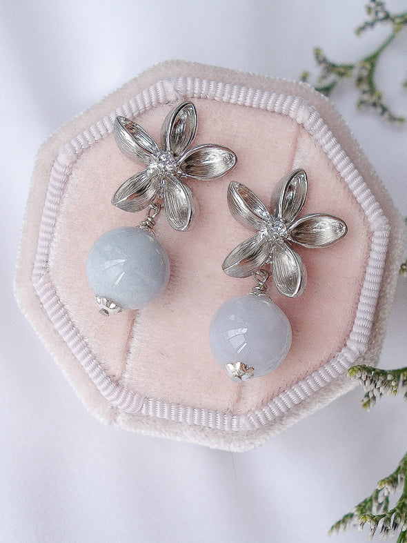 Lavender Jade Earrings #18