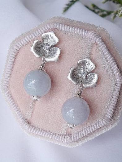 Lavender Jade Earrings #20