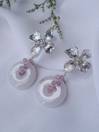 Lavender Jade Earrings #23