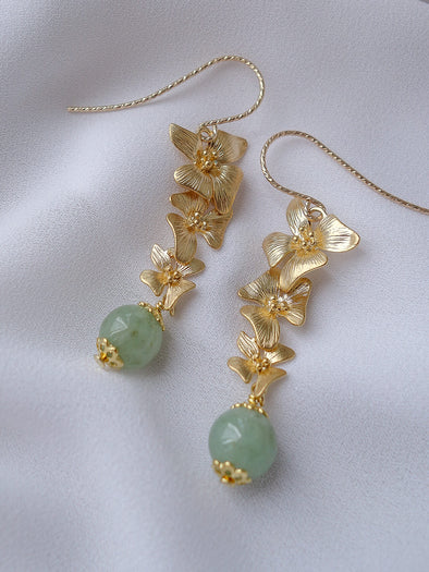 Green Jade Earrings #1