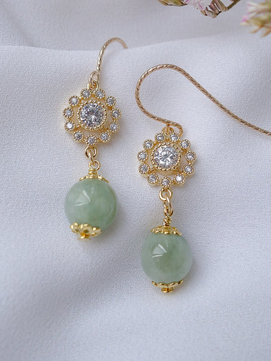 Green Jade Earrings #2