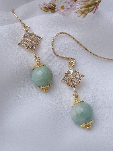 Green Jade Earrings #3