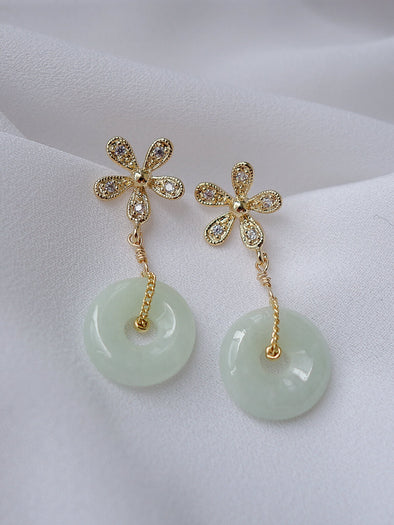 Green Jade Earrings #5