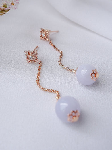 Lavender Jade Earrings #27