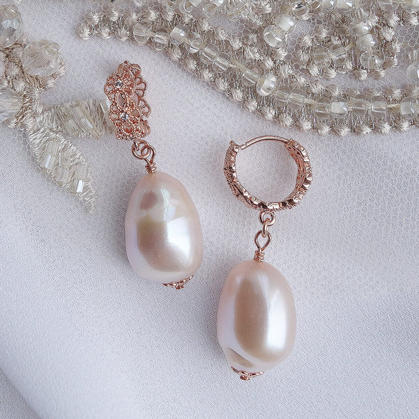 Baroque Pearl Earrings 1