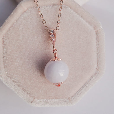 Lavender Jade Pendant Necklace