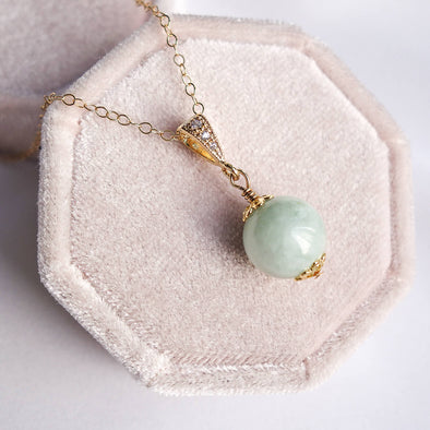 Apple Green Jade Pendant Necklace